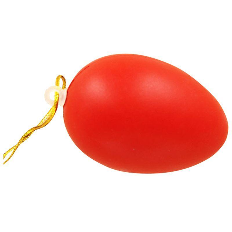 로프 빨간색 달걀 페인팅 부활절 달걀 40X60Mm 부활절 장식 홈 키즈 어린이 DIY의 매달려 12PCS 플라스틱