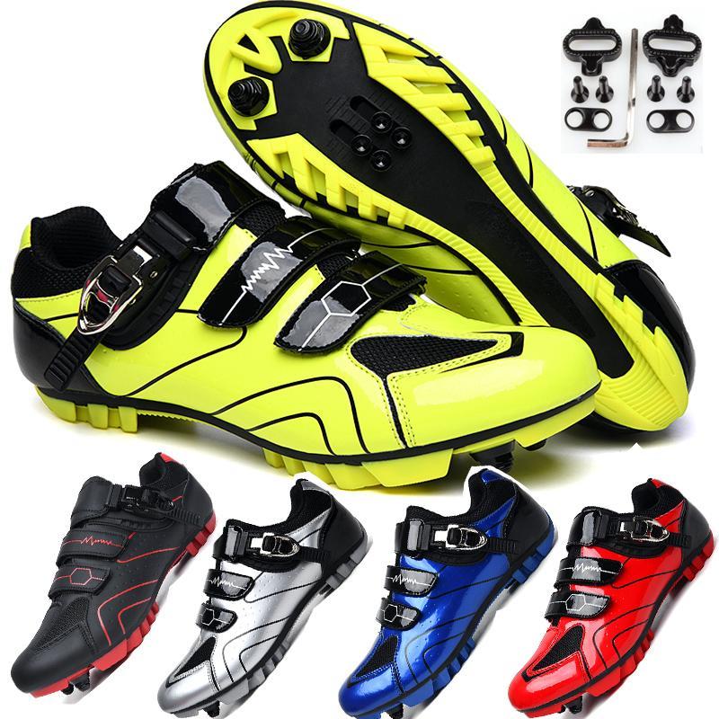профессионального качество Велоспорт велосипед Обувь износа нескользящего открытого легкоатлетических велосипед обувь удобная блокировка MTB велосипед