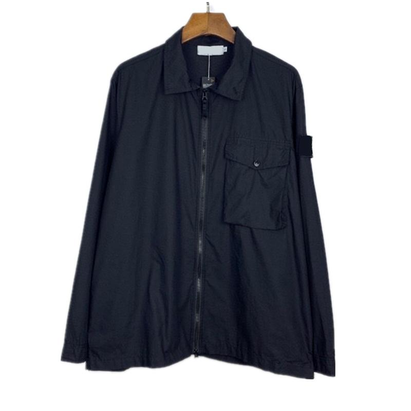 CP topstoney ПИРАТСКОГО COMPANY 2020 konng gonng весной и осенью новый бренд моды рубашка с длинным рукавом на молнию отворот пальто куртки ветровки