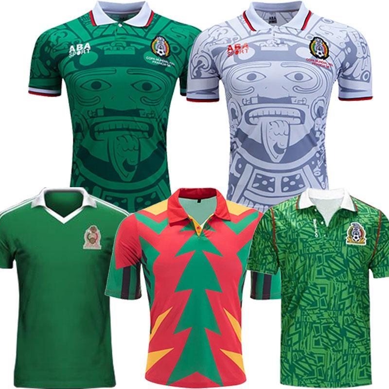 MEXICO 1998 RETRO Fútbol uniformes Blanco Hernández Blanco Campos 1994 camisa de Jorge Campos portero de fútbol jerseys 1986