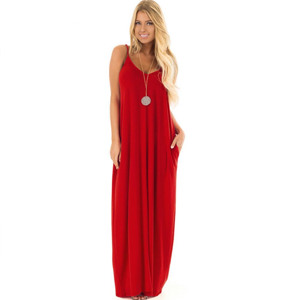Damenmode-Frauen-Kleider 5Xl Schwarz Maxi-Kleid-Frauen-beiläufige lange Bügel-Backless Sommer-Kleid-Partei Sxey Strand Plus Size Kleidung