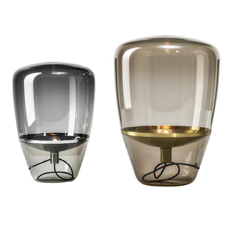 Nordic Glaswasc Tischleuchte Post Modern Schreibtischlampe für Wohnzimmer-Büro-Dekor Nacht Creative Lighting Design-Lampe