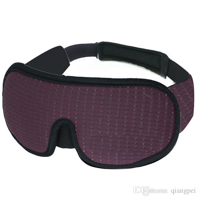 Bloqueio de sono claro Eye Mask macia viagem acolchoado Sombra Tampa Resto Relaxe Dormir Máscara Blindfold Eye Capa sono Eyepatch