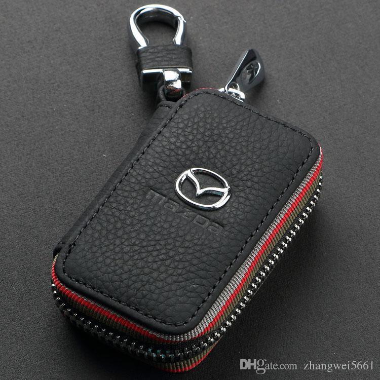 Genuine Leather Keychain Car Key Bag Case holders For Mazda VW TOYOTA BMW AUDI Citroen Hyundai Buick Benz Honda Lexus Chevrolet