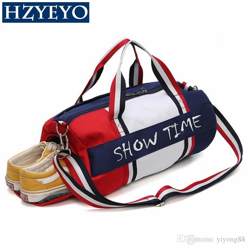 Hzieyo Dry and Wet Separation Fitness Bag Cylinder Water Volder Portable Sports Bag Sport Bolsa Tassen Tas Gima Jua Bags, T93