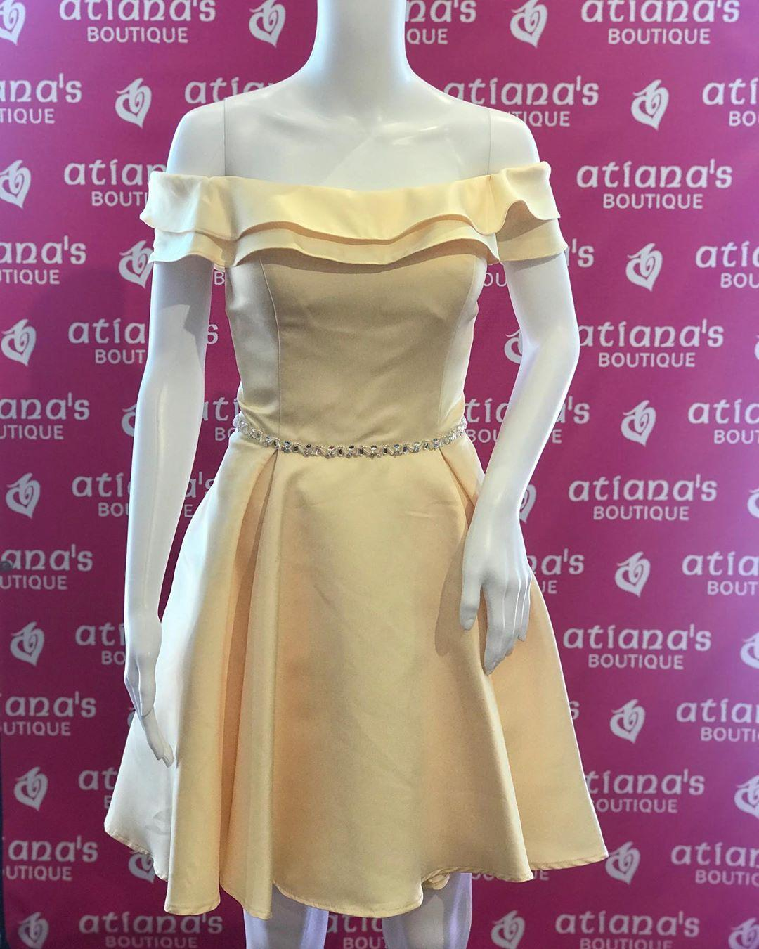 Hot Sale Yellow Off Shoulder Short Homecoming Prom Dress 2020 Beaded Ribbon Satin with Sleeves Mini Formal Party Graduation Cocktail Dress