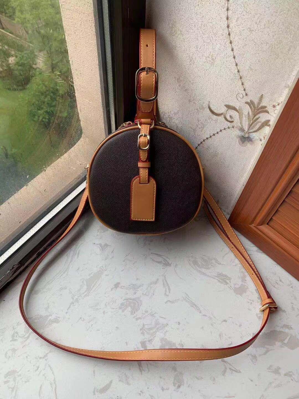 2020 Novo estilo europeu e americano impresso bolsa de couro pequena bolsa redonda mensageiro bolsa de ombro mini saco na moda cosmética