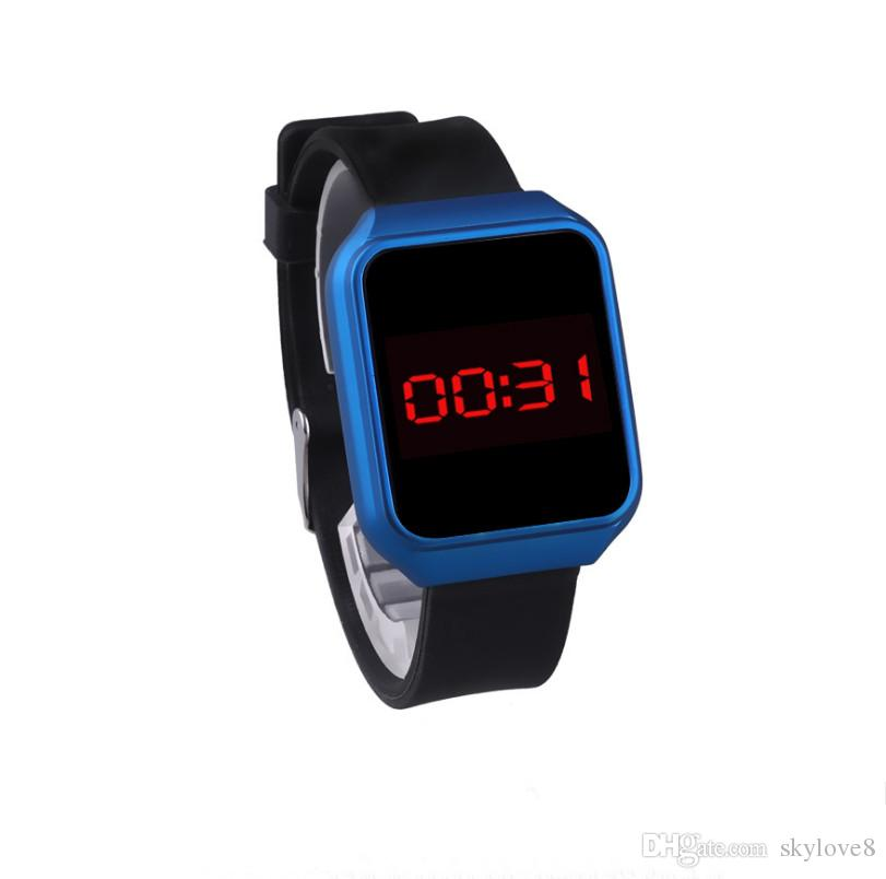 NEW fashion trend candy color couple electronic watch LED touch student table harmless high quality silicone sports watch