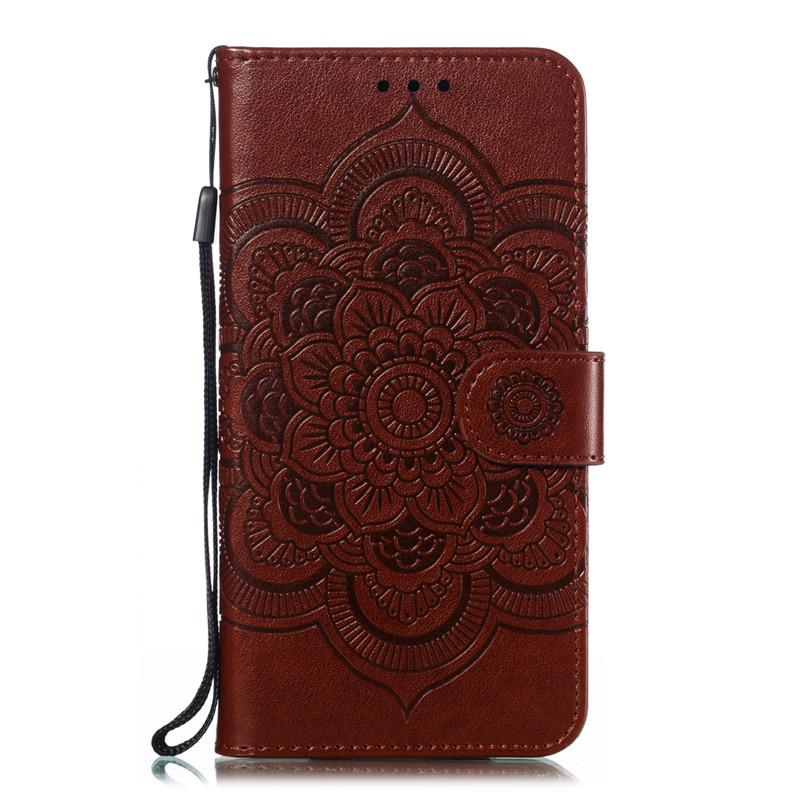 Mandala Kabartma Kapak Samsung Galaxy S9 / S9 Artı / S10 / S10 Lite / S10 Artı / S10 5g Durumda Çevirme Standı PU Deri Telefon Çanta