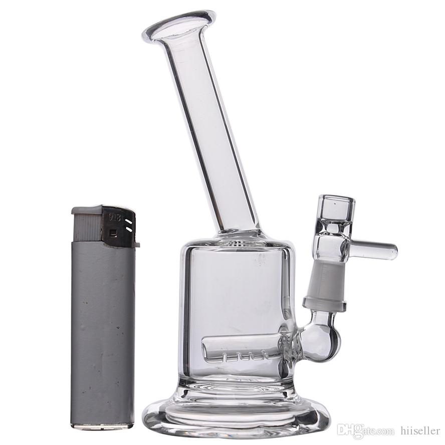 15cm tall Mini Bongs Recycler Oil Rigs Water Bong Clear Thick Glass Water Pipes Free Shipping 10mm Bowl Piece Cheap