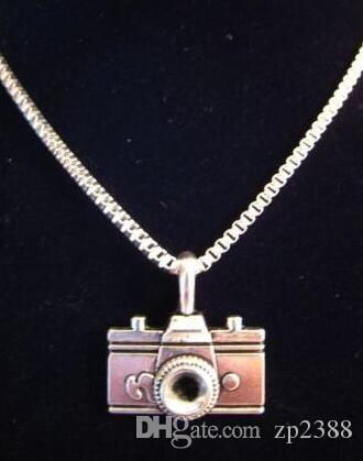 Vintage Silver Charms Fashion Camera Necklace Pendant Collar Box Chain Choker Necklaces Exquisite Jewelry Women Gift DIY Accessories