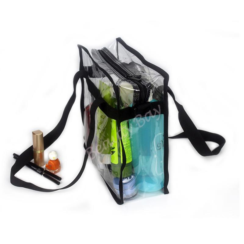 Fashion Women Clear Cosmetic Bags PVC Toiletry Bags Travel Organizer Beauty Case Makeup Bag Bath Wash Make Up bag