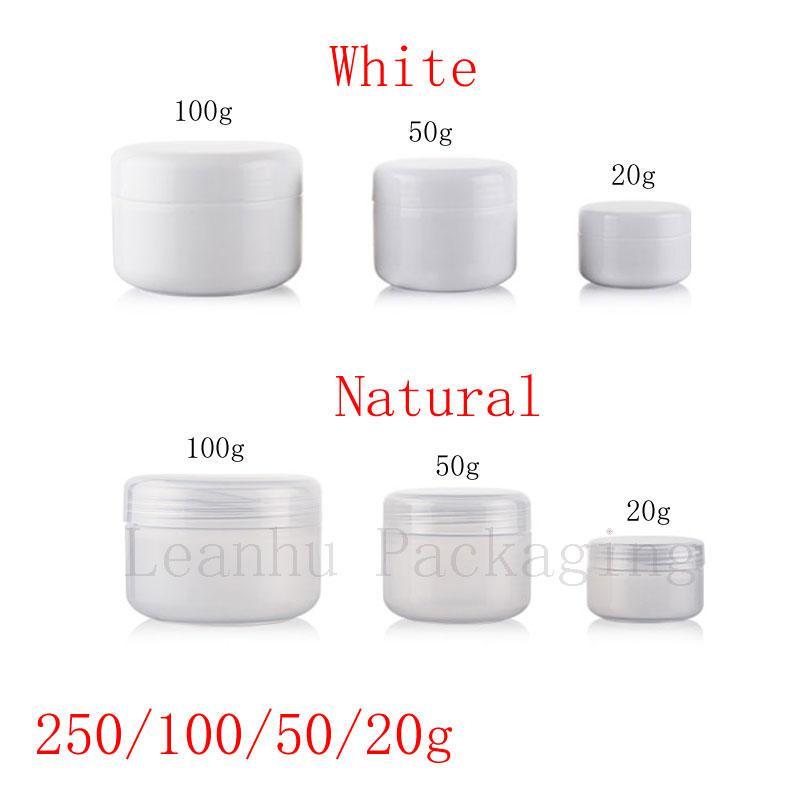 20g 50g 100g 250g Leer Hautpflegecreme Plastikbehälter, kosmetische Creme Gläser für die Körperpflege, Salbe Flaschen Pot Canning