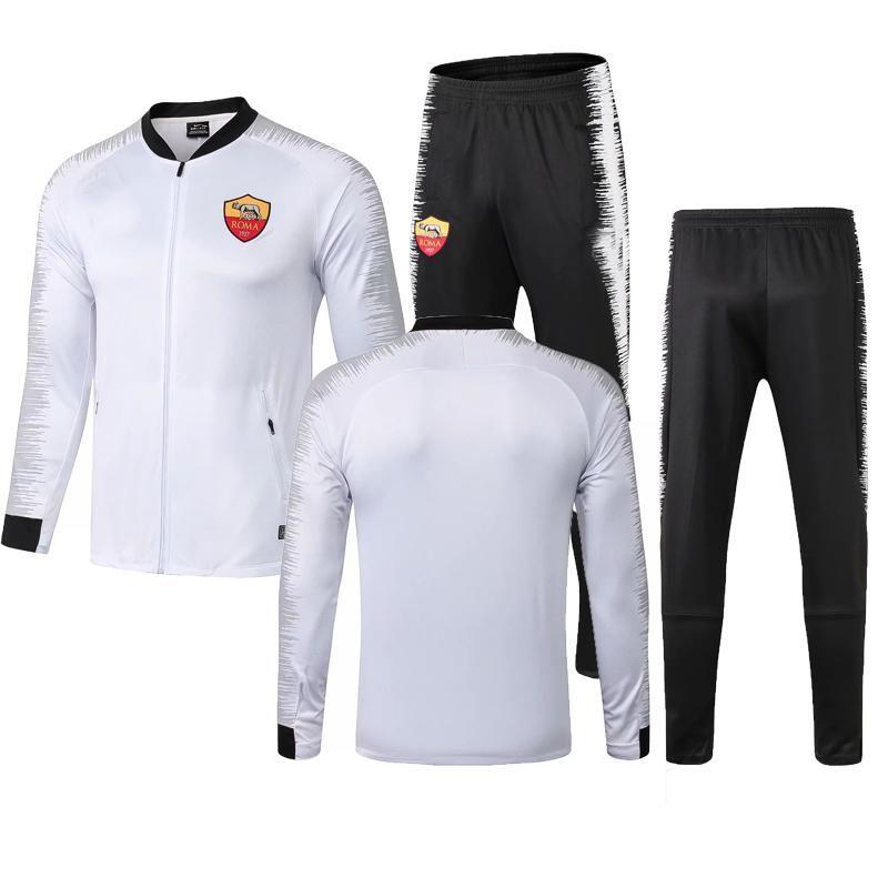 Roma jacket tracksuit Survetement Chaqueta de fútebol 2018 2019 Rome TOTTI DZIKO football jacket sportswear Training suit