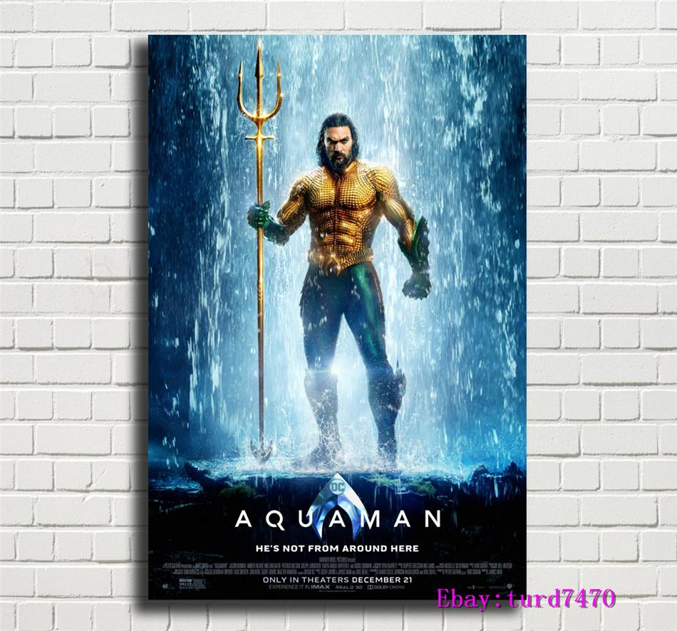"""12/""""x18/""""Aquaman HD Canvas print Painting Home Decor Picture Room Wall art Poster"""