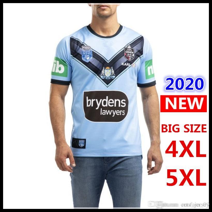 Melhores Qualidade 2020 azuis NSW jérsei casa ALTERNATIVAS origens NSWRL Holden Rugby Jerseys New South Wales Rugby League jersey camisa s-5XL