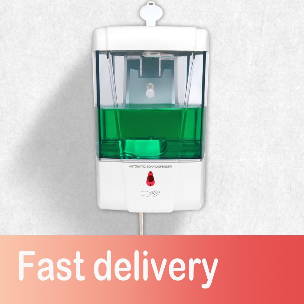 Soap Cozinha sabonete Líquido bateria alimentada 700ml Wall-Mount automática IR Sensor Touch-livre Loção bomba de Cozinha Casa de banho T200427