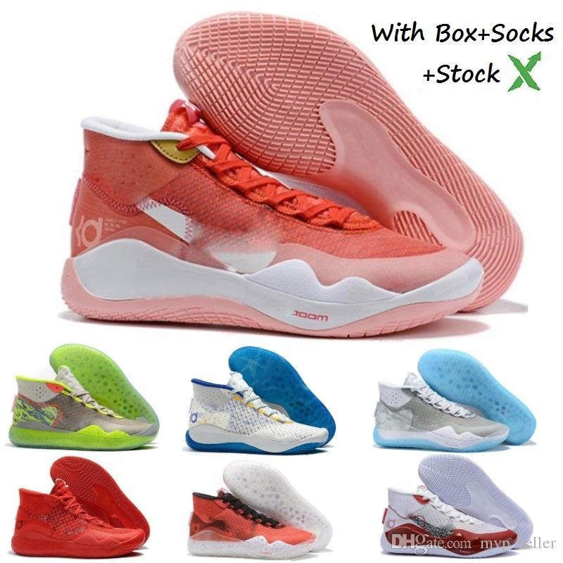 KD 12 Basketbol Ayakkabı 12s Kevin Durant XII Erkekler Eğitmenler Playoff Tüm Kırmızı Üçlü Siyah Kamuflaj Spor Ayakkabı Tasarımcısı Sneakers bize 7-12 Büyütmek