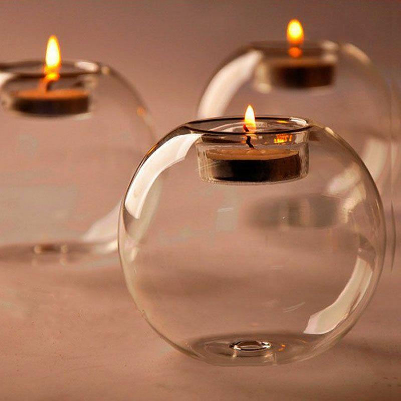 Candelabro de cristal de cristal Vela romántica Bar Fiesta Decoración para el hogar Candelabro