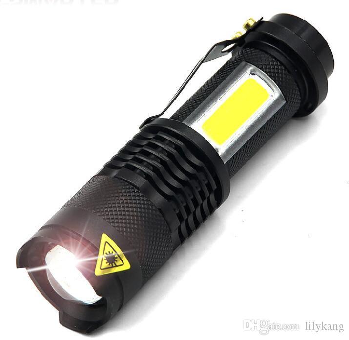 Mini Led COB taşınabilir COB lamba mini meşaleler Fenerler Büyütmek Q5 IP66 su geçirmez fener penlight açık kamp torchs ışıkları flaş ışıklarına