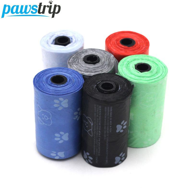 10roll =200pcs Pet Carrier Dog Waste Bag Portable Outdoor Pick Up Clean Degradable Dog Poop Bag