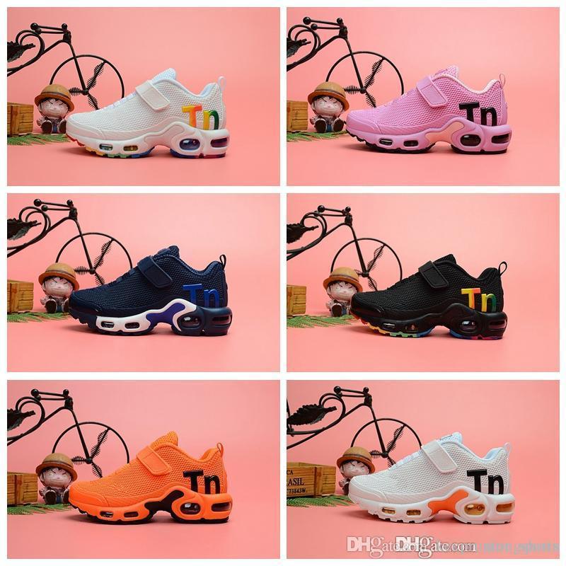 2019 nike tn plus New TN plus Chaussures de course pour enfants Respirant Filles Garçons jeunes Mesh Designer Sport Sneakers Eur28-35