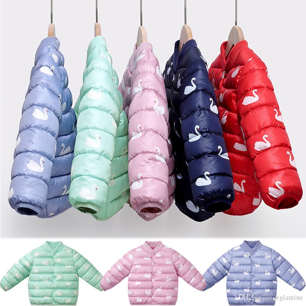 Enfant en bas âge Bébés garçons filles hiver Cartoon manteau coupe-vent chaud Outwear Veste longue tailles Enfants Vêtements