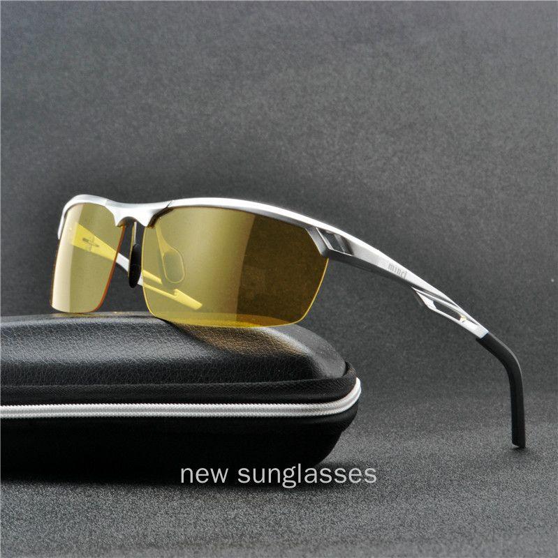 Солнцезащитные очки Minc / 2021 алюминиево-магниевый сплав мужской поляризованный мужчина вождение ночное видение солнцезащитные очки Ev400 NX