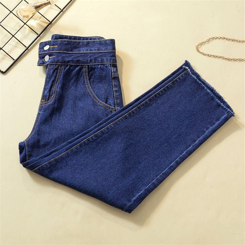 Женщины свободные старинные гарем синий Женские джинсы брюки высокая талия хлопок Жан женский бойфренд деним 8049