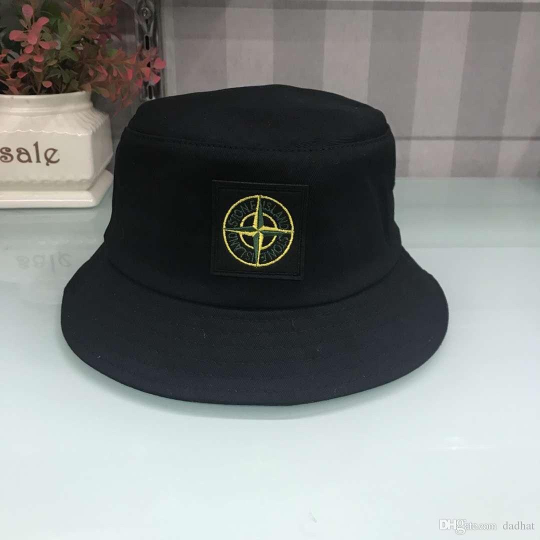 New Fashion Designer Leather Letter Bucket Hat For Mens Womens Foldable Caps Black Fisherman Beach Sun Visor Sale Folding Man Bowler Cap