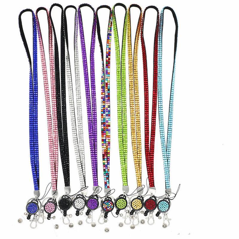 Cinturino da collo retrattile Pull Badge ID ID Nome Titolare della carta Collana Hanging Rope Reels Block Distintivi Lanyard