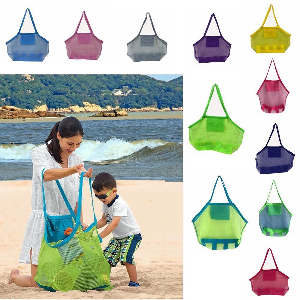 أكياس الشاطئ الأطفال سعة كبيرة الرمال بعيدا شبكة حمل حقيبة أطفال اللعب المناشف شل جمع أكياس التخزين أضعاف حقائب التسوق AAA2014