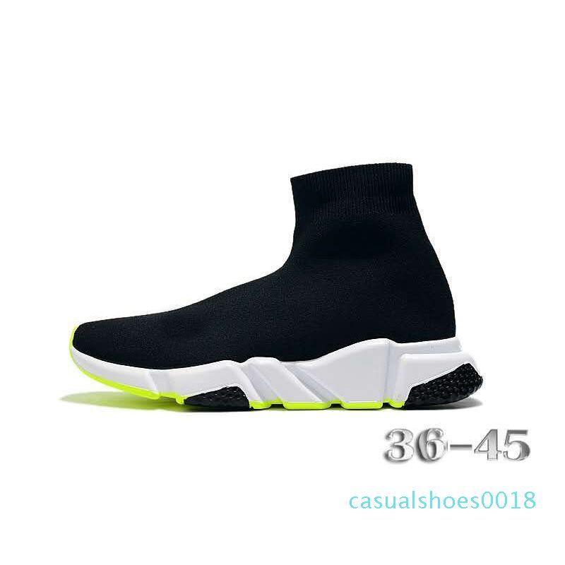 Nuovo Arrivlas designer Runners Casual Sport Sneakers Fashion luxurys per le donne gli uomini Speed Trainer off Nero Bianco Rosso calzino scarpe c18