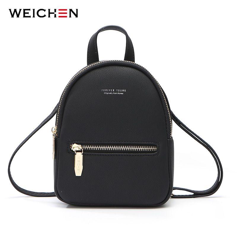 Weichen nuevo diseñador de moda de las mujeres Mochila Mini Soft Touch Multi-Función Mochila pequeña hembra hombro de las señoras muchacha bolsa monedero SH190918