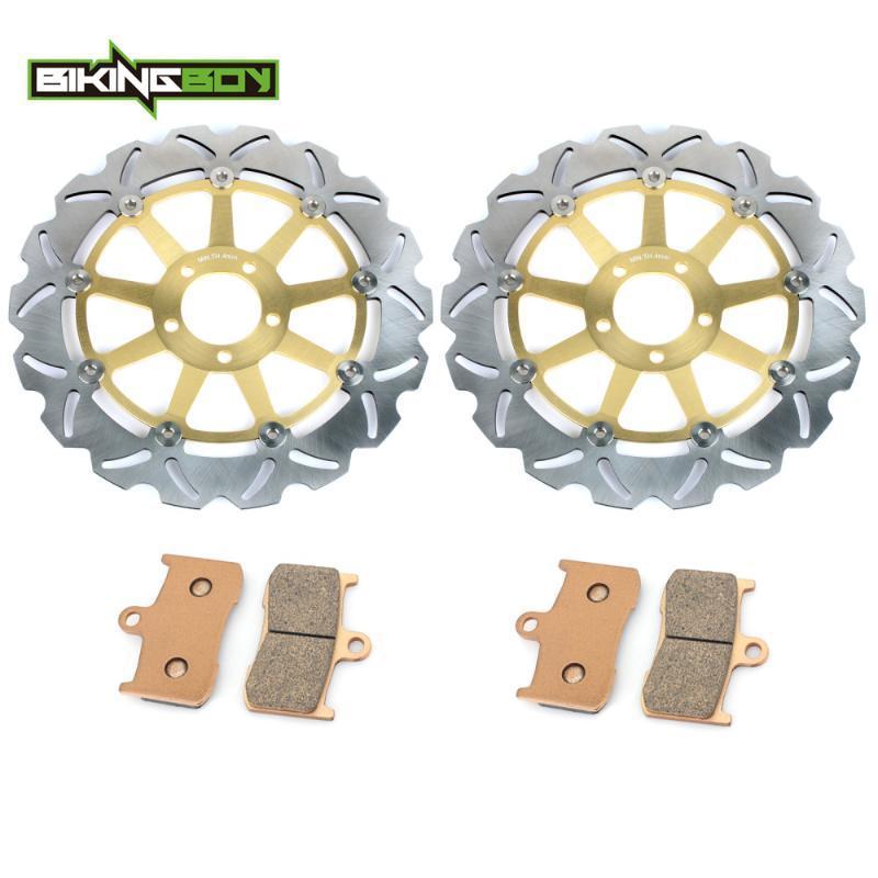 BIKINGBOY Front Rear Brake Discs Rotors Disks Pads for