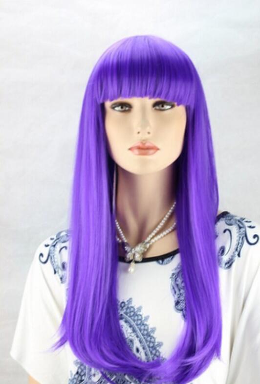 Spedizione gratuita WIG Hot !! Parrucca piena del partito di Cosplay delle parrucche lunghe ondulate ricci delle parrucche di capelli lunghi della ragazza delle donne di modo