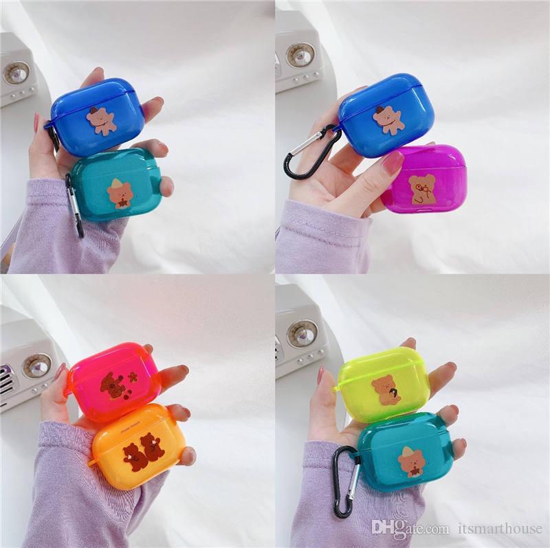 Fluorescenti auricolare Custodia per Airpods Pro auricolare protettore Cell Phone Accessories sei colori casi difficili Wireless Charger Box