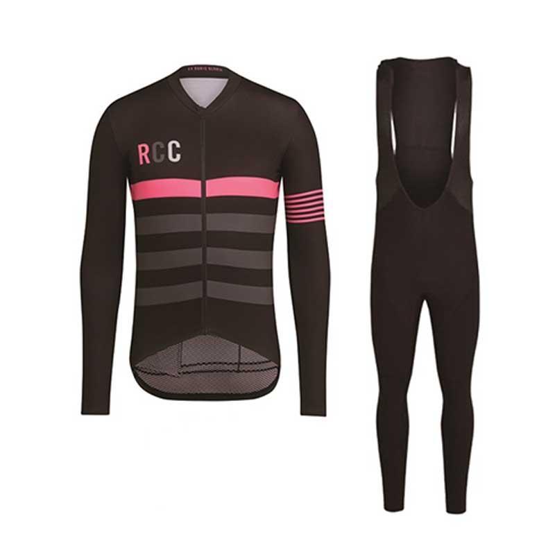 RCC Ciclismo Define mangas compridas Jersey respirável Ciclismo Suit bicicleta roupa Kit Vestuário bicicleta Suit Wears
