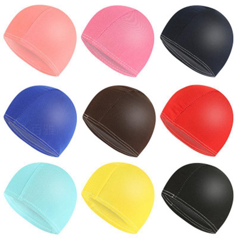 السباحة كاب كاندي الألوان حمام قبعات للجنسين نايلون القماش الكبار قبعات الاستحمام للماء دش قبعات 2000PCS IIA137