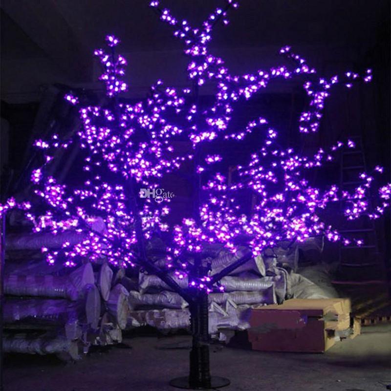 و 6ft / 1.8M الطول الصمام الاصطناعي زهرة الكرز شجرة عيد الميلاد ضوء المصابيح 1248pcs لمبات 110 / 220VAC المعطف الديكور حديقة خرافية