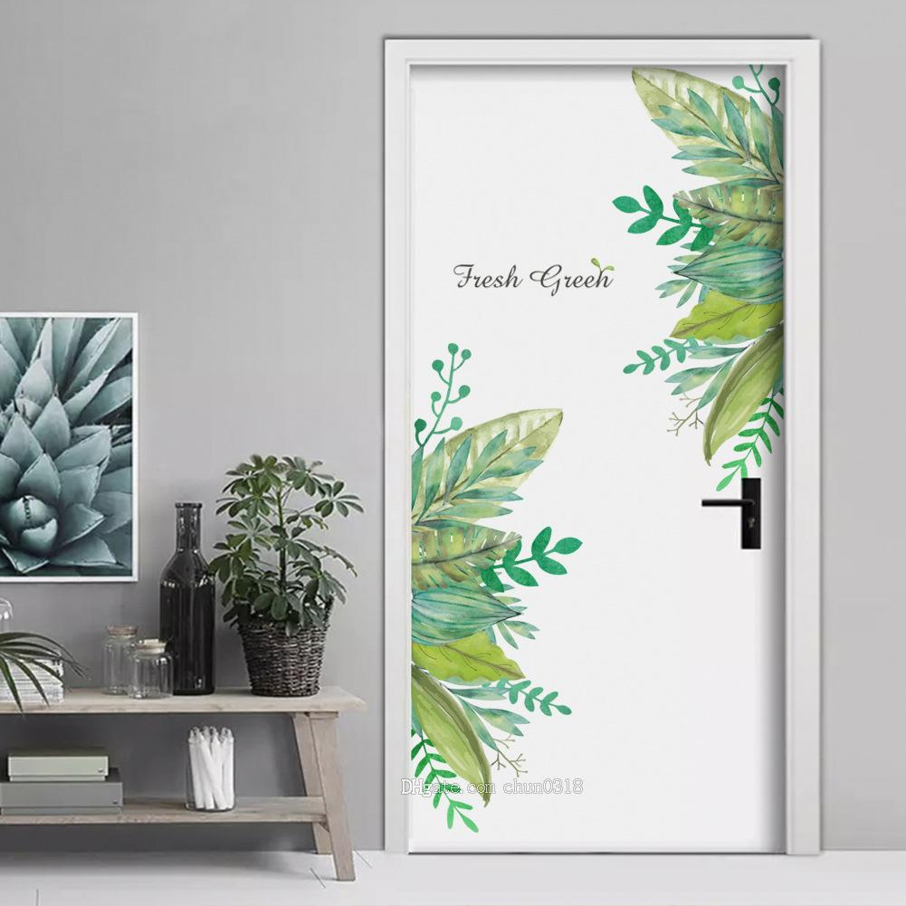 Free Shipping Hot fresh green garden plant baseboard wall sticker home decoration mural decal living room bedroom decor