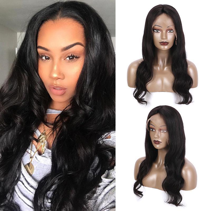 Raw brasiliani del Virgin dei capelli non trattati piene del merletto Donne umani Parrucche