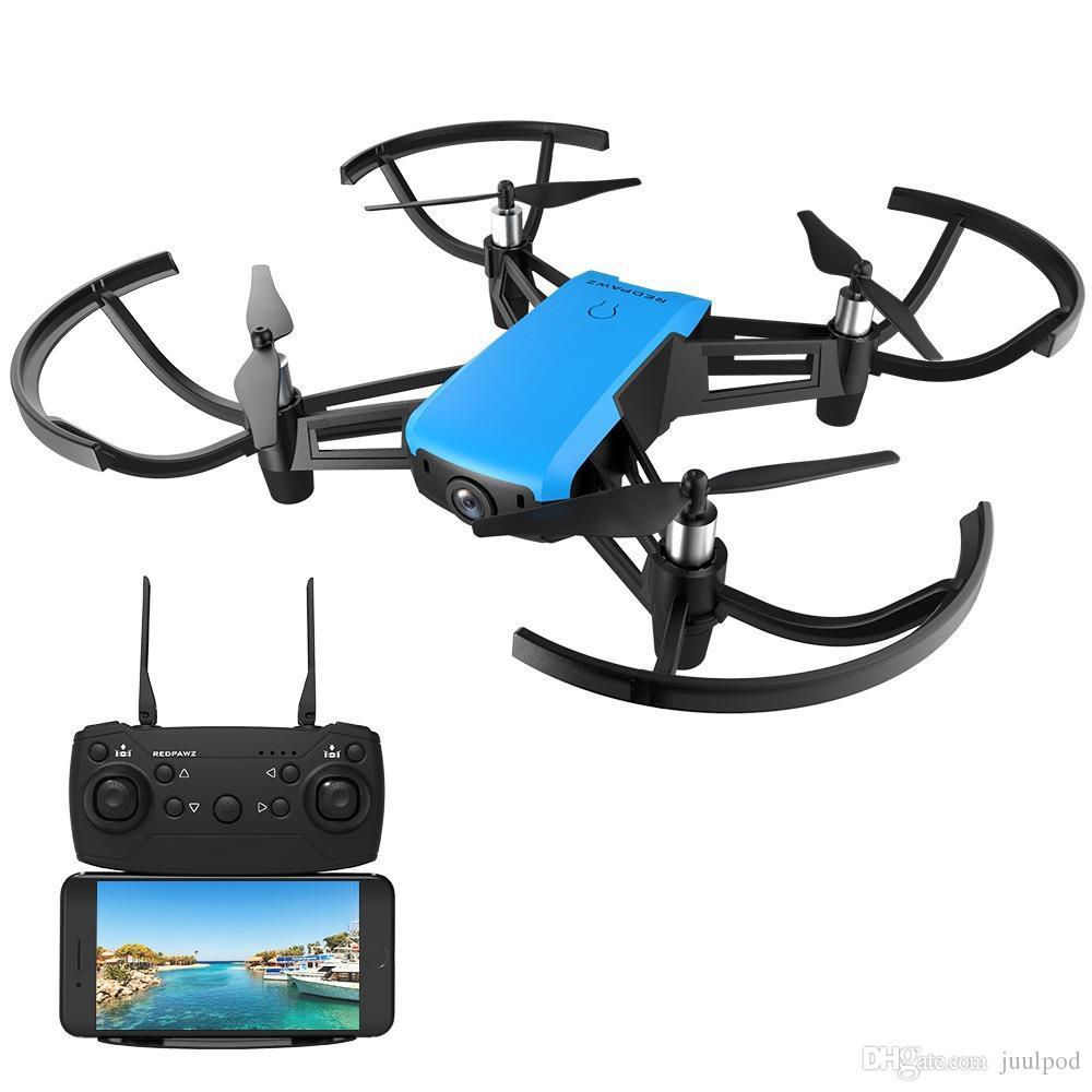 REDPAWZ R020 ŞOK WIFI FPV 720P Geniş açılı kamera Rakım Tut RC Quadcopter RTF + Ekstra Batarya