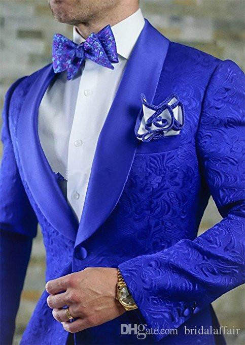 Deux pièces neuves garçons d'honneur royal châle revers violet smokings smokings hommes costumes mariage / bal des meilleurs hommes blazer (veste + pantalon + cravate)
