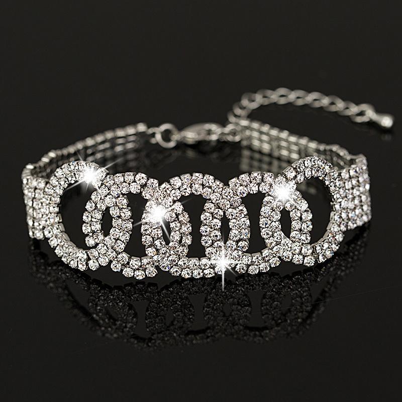 Kendi fabrika bracelete Pulseiras Avusturya Kristal Bayan Bileklik Takı Moda Düğün Bilezikler Aksesuar B014 yapılan