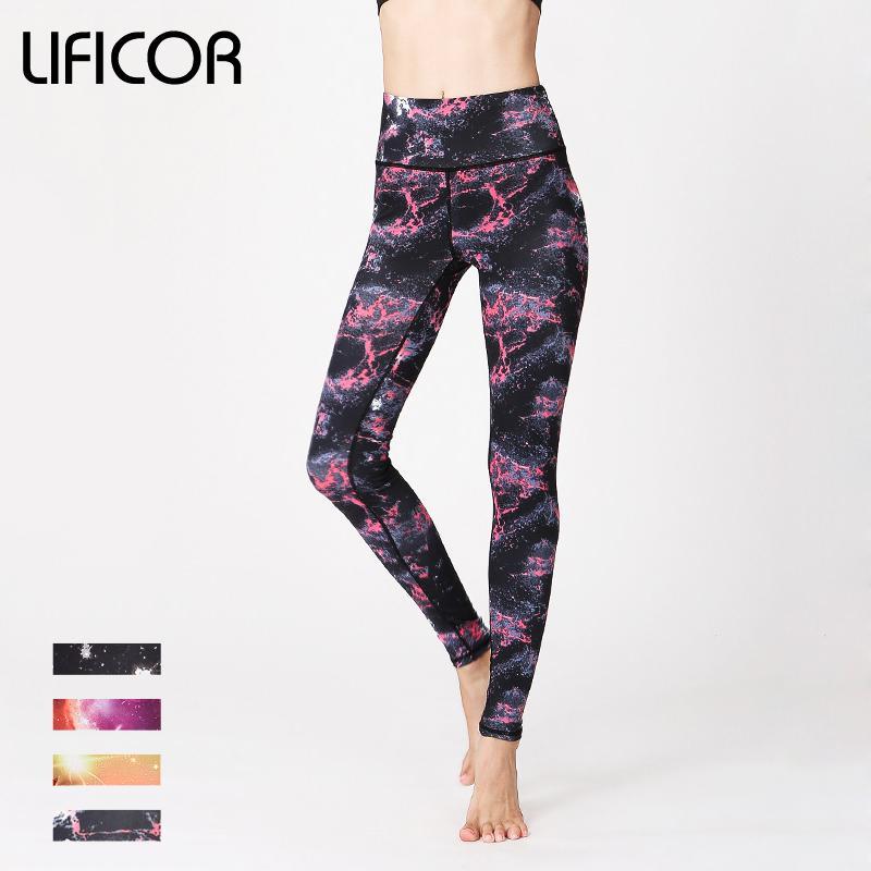 Sexy Women Yoga Pants Slim Running Fitness Leggings Sport Pants Female Athletic Gym Print Slim Fit Elastic Waist