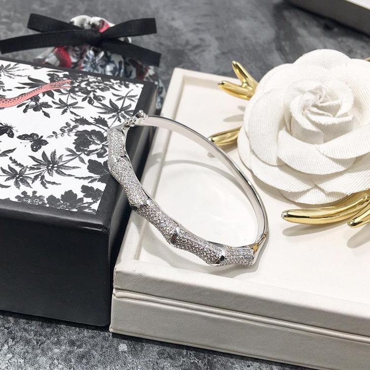 2020 الأزياء النسائية والمجوهرات سوار أوروبا وأمريكا نصف دائرة كاملة الخيزران الماس سوار الفاخرة والمجوهرات