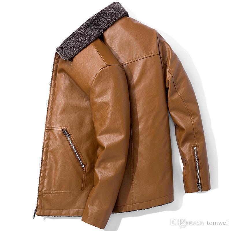 Мужская Осень Зима шубы кожаные куртки искусственная кожа блейзеры ветровка топы повседневная пальто плюс размер 5XL 6XL 7XL 8XL толстый теплый