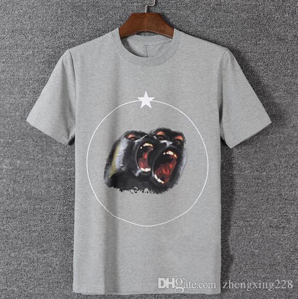 2020 Luxe Hommes Designer Baboon Star Printing T-shirt New Hommes Femmes d'été à manches courtes T-shirt Hip Hop col rond shirt des creux de la vague