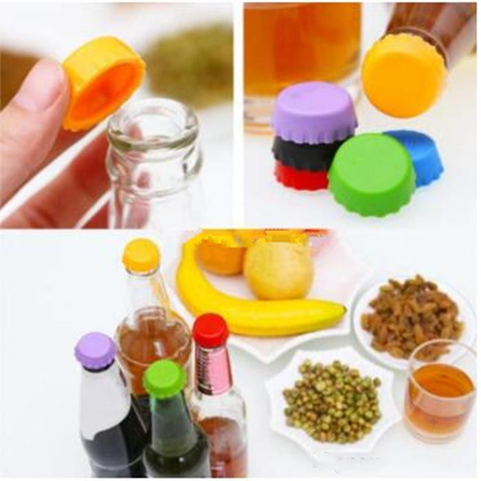 Silicone drinkware lid Silicone Bottle Caps Tops Wine Beer Caps Saver Beer Bottle Lids Silica Gel Reusable Stopper cover Caps